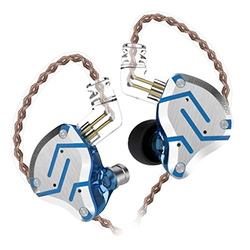 KZ Stereo Headphones Sport HiFi Noise Cancelling Earbuds 4BA+1DD Hybrid Blue