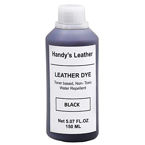 HandyLeather's Italian Smooth Toner -Based Leather Dye Color, 150 ML, 5.07 Fl OZ. - Dye Color Coats Leather Surface Color (Black)