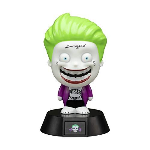 Paladone The Joker Icon 3D LED Collectible Suicide Squadlichten ideaal nachtlampje voor kinderkamer, kantoor en thuis, pop-culture verlichting, merchandise, energieklasse A+, multifunctioneel