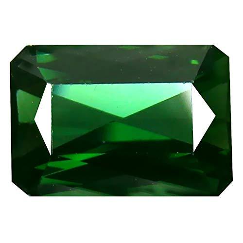 グリーントルマリン ルースストーン 2.99 ct Octagon (10 x 7 mm) Un-Heated Mozambique Green Tourmaline ...