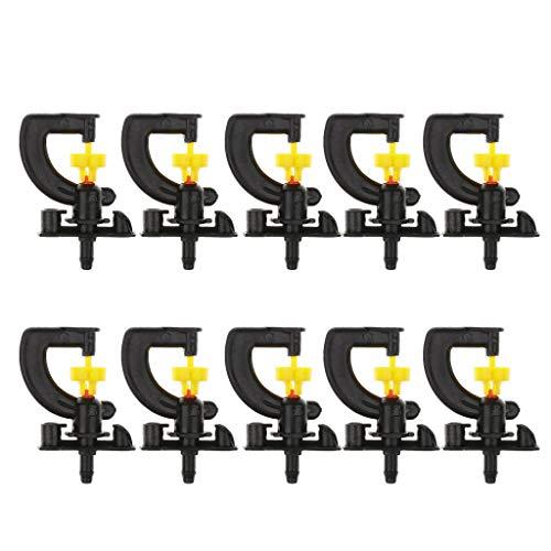 B Blesiya 10 Pièces Arroseur Rotatif Vaporiser Uniformément à 360 °