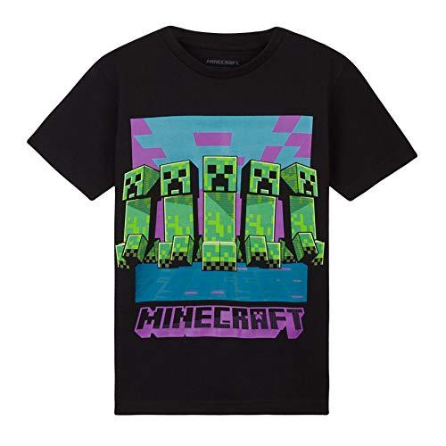 Minecraft Camiseta Niño, Ropa Niño Algodon 100%, Camisetas para Gamers en Negro...