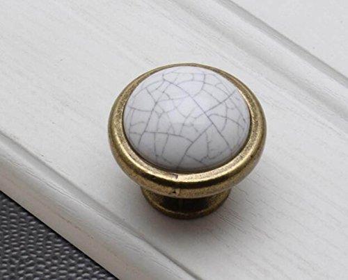 2 Set Poignée De Porte De L'armoire Verte Armoire En Céramique Poignée En Bronze Hardware White Furniture,G