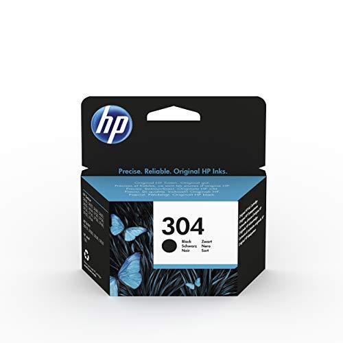 HP 304 N9K06AE - Cartucho Original de Tinta Negro, compatible con impresoras de inyección de tinta HP DeskJet 2620, 2630, 3720, 3730, 3750, 3760, HP Envy 5010, 5020, 5030
