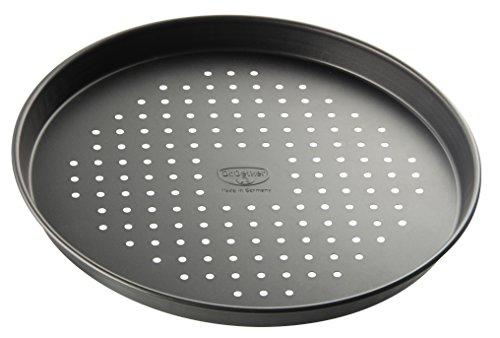 Dr. Oetker Pizzablech Ø 28 cm mit Antihaft-Wirkung, Backblech für tiefgekühlte & selbstgemachte Pizza, rund & antihaftbeschichtet, Menge: 1 Stück
