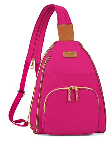 VORONIA   Women and Girls Fashion Backpack/Sling Bag   Rhinestone Zippers and Multi-Pockets   Everyday Use (October-Tourmaline)