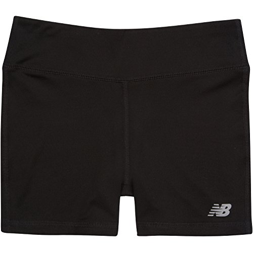 New Balance Girls' Big Performance Bike Short, Black, 16