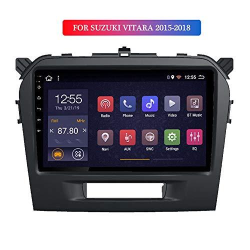 LHWSN Android 9.0 2.5D Temperierte HD Touch Screen 9-Zoll-Radio für Suzuki Vitara mit GPS-Navigation Quad-Core-Bluetooth-USB-WiFi Unterstützung SWC Spiegel Link-Rückfahrkamera,4G WiFi 2G 32G