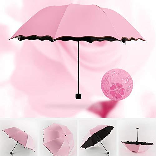 ZGMMM Pegamento Negro Sombrilla Mujer Paraguas de Lluvia inversa Hombre A Prueba de VientoFrancia