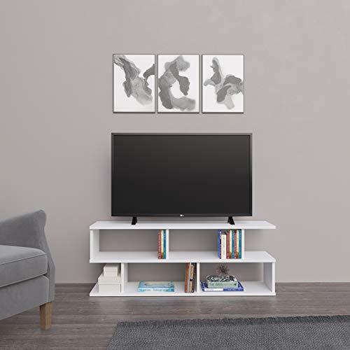 Homemania Mobile Porta TV, Truciolare Melaminico, Bianco