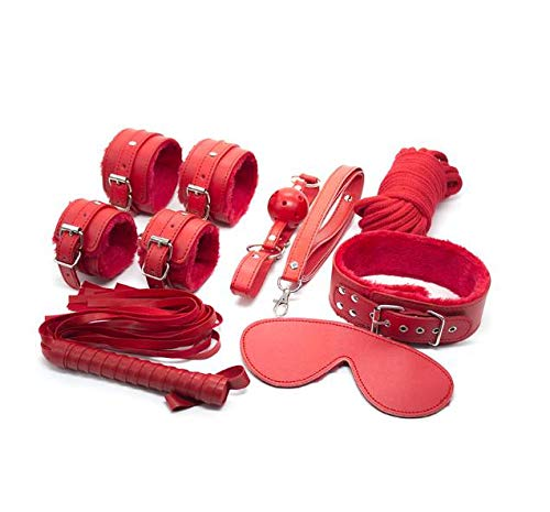 Juguetes ȅróticôs para ṡȅxô para Parejas Cuarto Ropa Ejercicio BD-SM Aprovechar Traje Cuerpo Ṣȅxy Deportes Equipo Novedad Bǒǹdâgê Kît Ṣȅxô Juguetes Pareja Placer 7piezas, Rojo