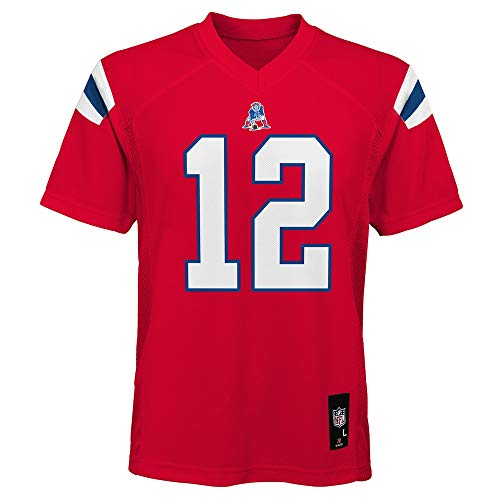 Tom Brady New England Patriots NFL Youth Red Alternate Mid-Tier Jersey (Youth Large 14-16)