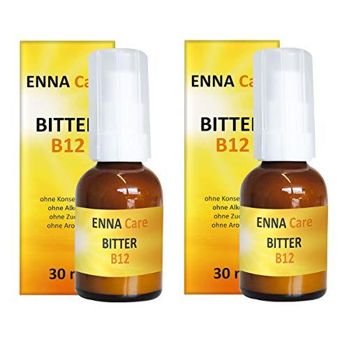 ENNA Care® Bitter B12 (2er Set) - 2 x 30 ml Flaschen | Nahrungsergänzung