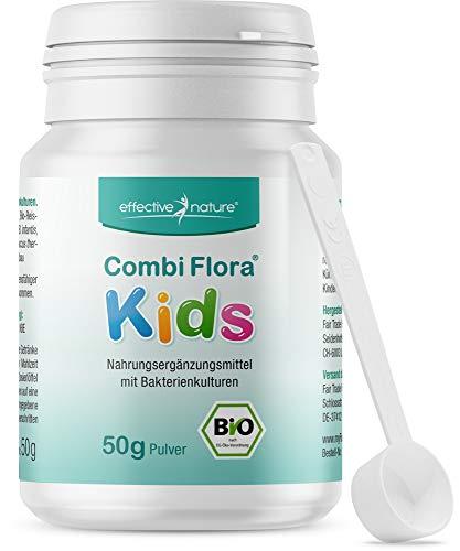 effective nature Bio Combi Flora Kids Pulver - 50g - Zur Unterstützung der Darmflora bei Kindern - Besonders einfache Einnahme