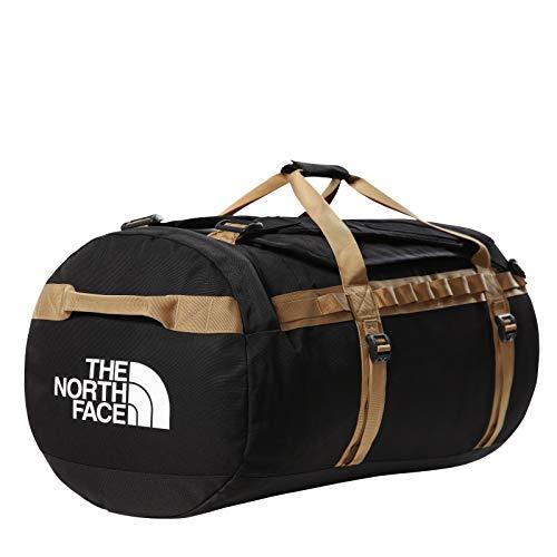 The North Face - Gilman Duffel Bag - Durable Base Camp Bag with Shoulder Straps - Black/British Khaki, L