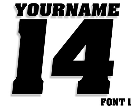 Mx & ATV Number Plate Decals with Your Name or Custom Text   Set of 3 Decals With Your Custom Number, Text, Color & Font Choice   17 Colors & 14 Font Choices!