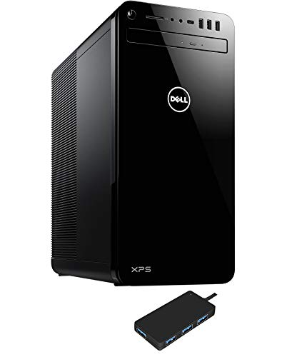 Dell XPS 8930 (2020) Home and Business Desktop (Intel i7-9700 8-Core, 32GB RAM, 512GB PCIe SSD + 2TB HDD (3.5), Intel UHD Graphics, WiFi, Bluetooth, 6xUSB 3.1, 1xHDMI, Win 10 Pro) with USB3.0 Hub