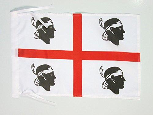 AZ FLAG Bandiera Sardegna 45x30cm - BANDIERINA SARDA - Italia 30 x 45 cm cordicelle