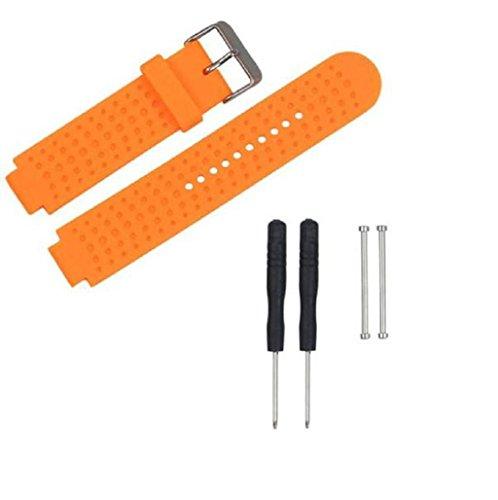 Riemen für Garmin Forerunner 230/235/220–Sannysis Silikon-Band mit Adapter und 2pcs Werkzeug (schwarz), 2016, orange