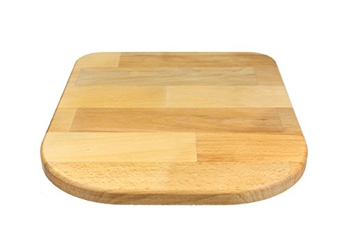 StreamBrush® Premium - Gleitbrett Holz-Gleiter Untersetzer aus Massivholz für den Thermomix TM5 / TM6 / TM31 Buche SE