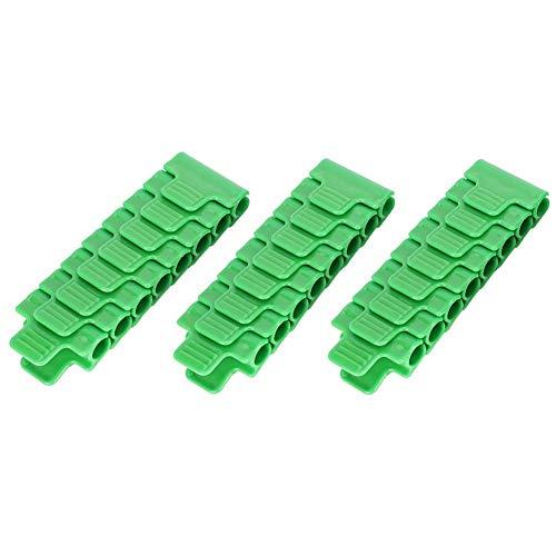 Fdit 24st plastic broeikas filmclip klem kas accessoires outdoor gardening tool voor 11mm buis
