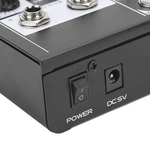 Wosune Mezclador de Audio Material metálico Mezclador de Audio estéreo portátil Tamaño Compacto Grabación de música empresarial para webcast de Karaoke en casa(Transl)