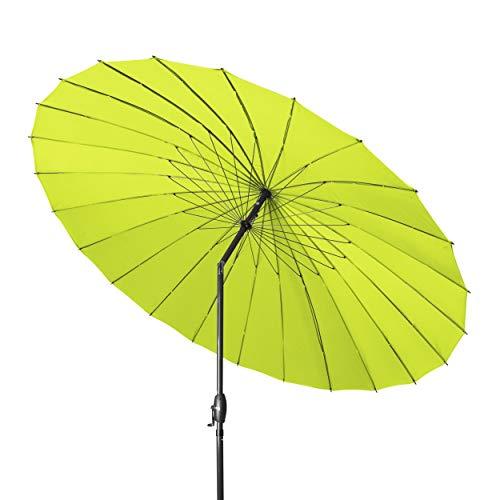 Derby Shanghai II 270 – Hochwertiger Alu Sonnenschirm ideal für den Garten – Witterungsbeständig – ca. 270 cm – Apfelgrün