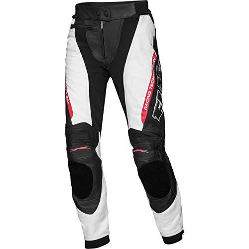 FLM Kombihose Lederkombi Motorradhose mit Protektoren Sports Damen Lederkombihose 3.0 schwarz/weiß 38, Sportler, Ganzjährig