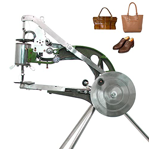 ColouredPeas 4-Bearing Shoe Repair Hand Leather Sewing Machine, Shoe Cobbler Machine with Nylon Line, Manual Mending for Leather/Shoes/Bags/Clothes/Quilts/Coats/Trousers (M1064)