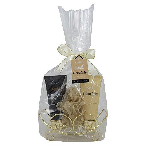 GLoss - Coffret pour femme - Spécial Noël -Traineau métallique doré - Collection Bloomfield - Fleurs Blanches et Muscs