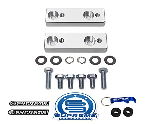 Supreme Suspensions - Sway Bar Brackets For 2005-2020 Tacoma 2003-2009 4Runner and 2007-2009 FJ Cruiser 2WD 4WD High-Density Delrin Sway Bar Drop Brackets (Silver)