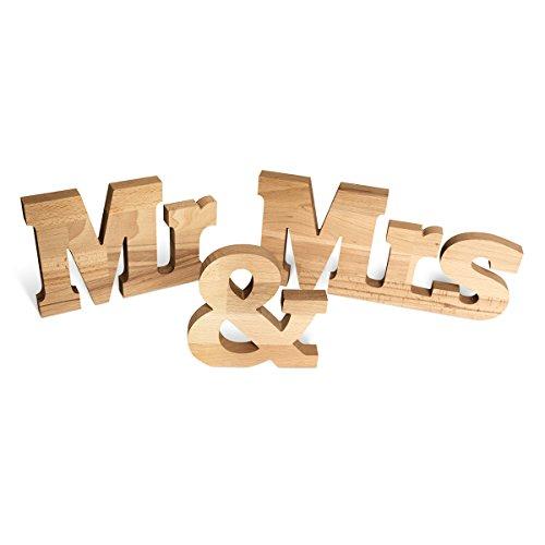 Hochzeit Deko Tisch Dekoration Holz Schriftzug Buchstaben XL 68 cm lang - Mr & Mrs