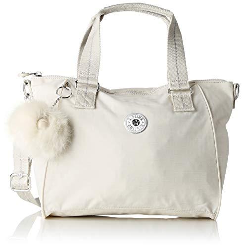 Kipling Amiel - Borse a secchiello Donna, Bianco (Dazz White)