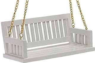 Handley House Dollhouse Miniature Porch Swing, White