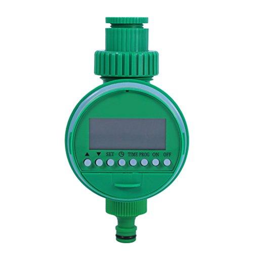 Serre et Plus Minuterie dIrrigation avec /Écran LCD en ABS Contr/ôleur de Syst/ème dArrosage Intelligent pour Arroseur de Gazon Asixx Programmateur Arrosage Automatique