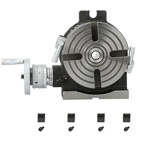 Horizontaler/Vertikaler Drehtisch, HV6 6 ''/150mm Horizontaler Vertikaler Drehtisch für Fräsmaschine und Bohrmaschine, 4 Nuten, starke Stabilität