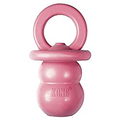 KONG Puppy Binkie shown in pink and blue.