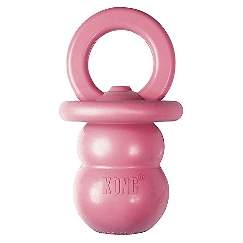 KONG Puppy Binkie - Soft Teething Rubber, Treat Dispensing Dog Toy