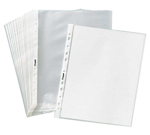 TYH Supplies 200-Pack Economy 11 Hole Clear Sheet Protectors 8-1/2 x 11 Inch Non Vinyl Acid Free