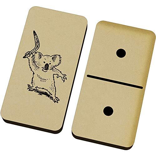 Azeeda 'Koala Mit Bumerang' Domino-Spiel und Box (DM00020705)