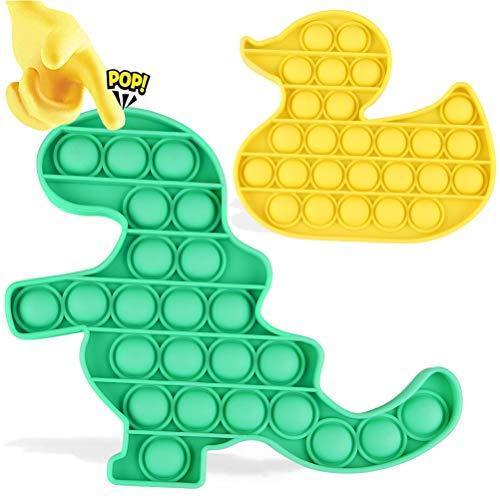 YQHbe Push Pop Sensory Fidget Toy, 2 Luftpolster-Fidget-Spinner Handkreisel Pop Fidget Spielzeug Zappeln Spielzeug für Schlüssel Anti-Stress Entlastende Squeeze Toys für Autismus Kinder