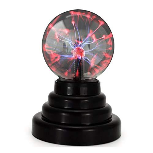 BEIAOSU Bola de plasma, lámpara de plasma sensible al tacto, luz decorativa de novedad, carga de batería / USB