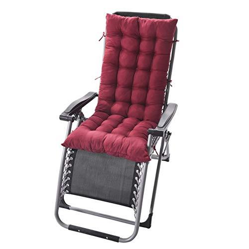 HEWEI Indoor Outdoor Chaise Lounge Kussen Met Ties Gewatteerde Futon schommelstoel Stoel Bekleding Patio Meubilair Zonnebank Matrassen Voor Tuin Roze 125x48cm (49x19inch)