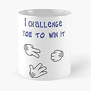 I Challenge You To Win It Shirt Classic Mug - The Funny Coffee Mugs For Halloween, Holiday, Christmas Party Decoration 11 Ounce White Leinstudio.