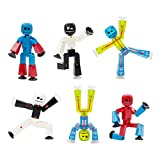 Zing Stikbot Series 4 - Colour 6 Piece Posable Figure Set - for Stop Motion Animation - in Eco Packaging