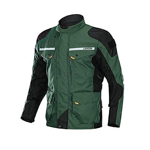 LITI Chaqueta De Moto Moto para Hombre Chaqueta De Motocicleta Textil Impermeable con Protecciones CE