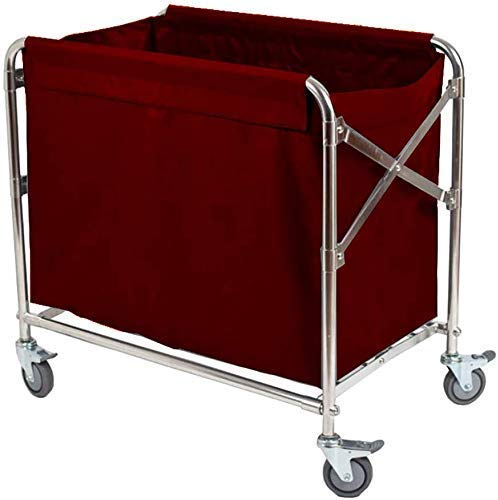 Dljyy Cart, Medical Cart, eetwagen, recoger, Medical trolley, linnen rolwagen, hotel wasmachine, met universele rem wiel, kamerservice trolley, wasbaar overtrek, Brown