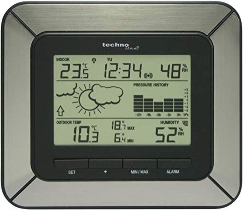 Technoline Wetterstation WS 9273-IT mit Vorhersage von Wettersituationen und Wettertendenz sowie 12h Luftdruckhistore