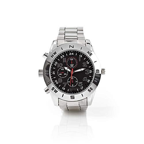 Armbanduhr mit Spionagekamera | 720 x 480 Video | 1280 x 1024 Foto | 8 Gb Speicher | Wiederaufladbar