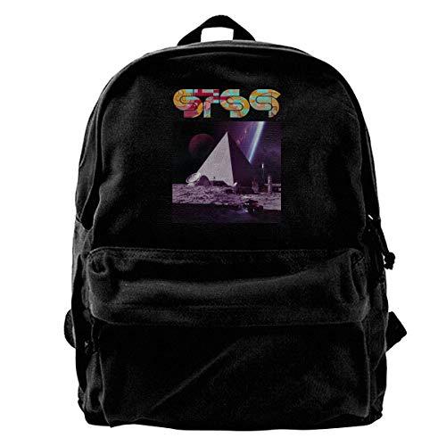 Yuanmeiju Fashion Canvas Backpack Sts9 Black Canvas Backpack Girls Unisex Fashionable Canvas Backpack School Teens Girls Students Casual